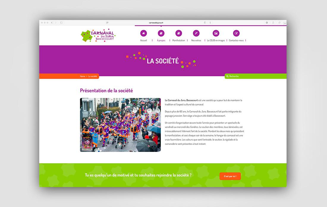 Site Internet Carnaval du Jura