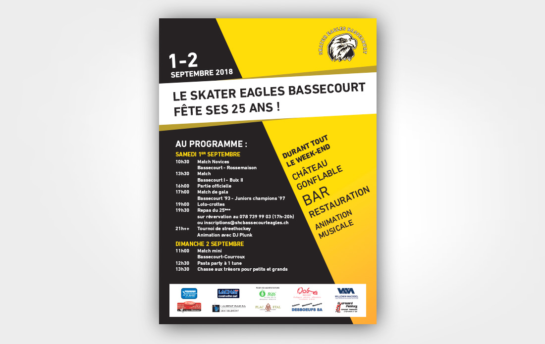 Affiche Skater Eagles Bassecourt
